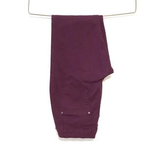 Bandolino maroon high waisted Amy straight jeans 8